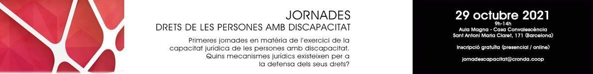 Banner jornades discapcitat
