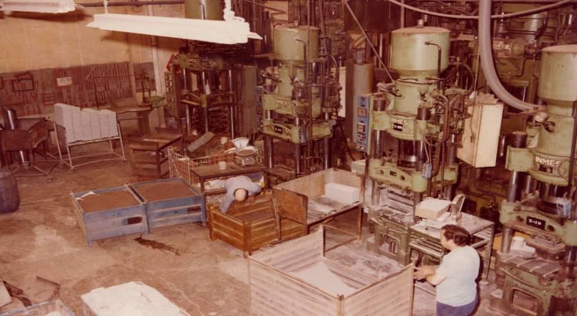 Imatge històrica de les antigues instal·lacions de Jurid Ibérica
