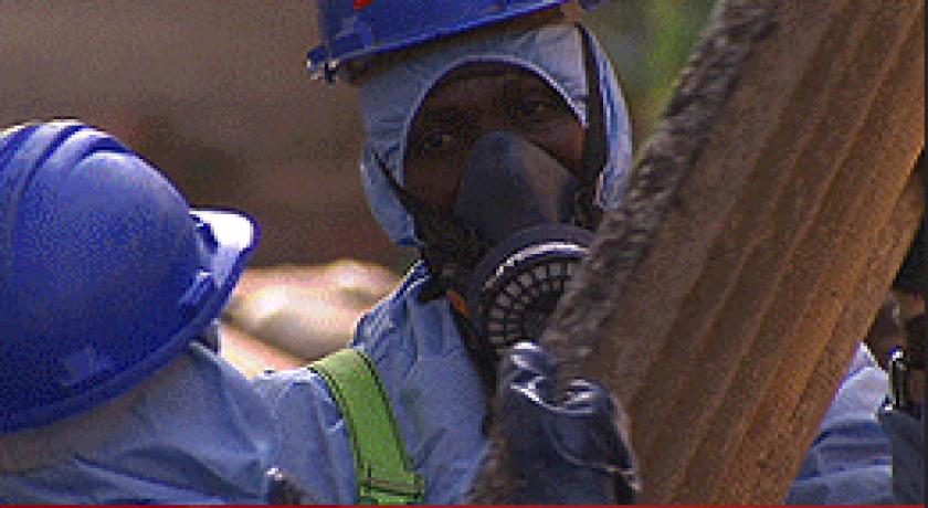 Fotograma del reportatge 'Exposats a l'amiant'