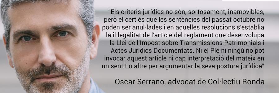 Oscar Serrano, advocat de Col·lectiu Ronda