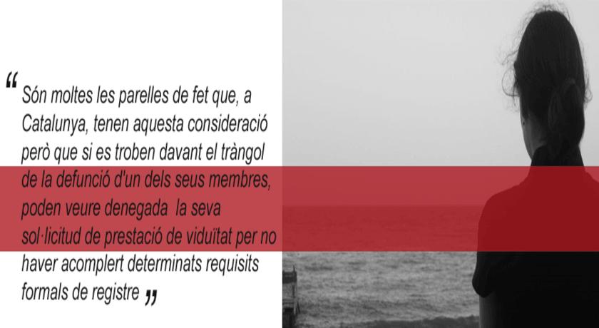 El via crucis de la viduïtat per a les parelles de fet a Catalunya
